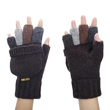 db7d67ee28efd ZUMUii Butterme Men's Wool Knitted Fingerless Gloves: Amazon.co.uk:  Electronics