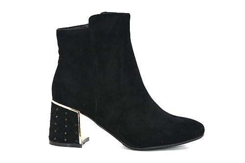 Caf Noir LA508 Botines Negros Mujer botín con Cremallera: Amazon.es: Zapatos y complementos