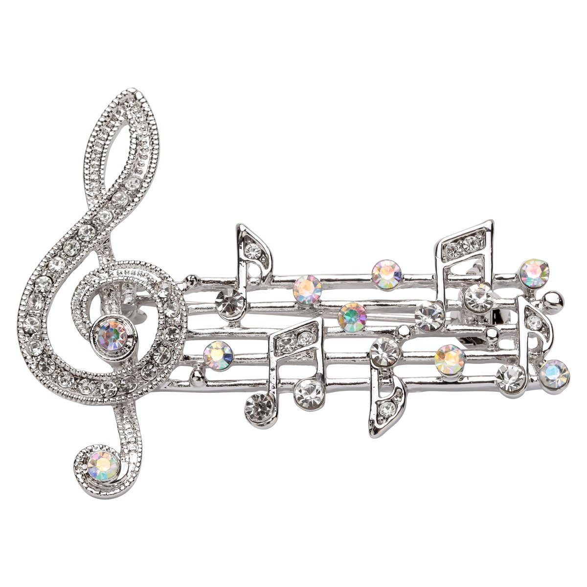 Szxc Crystal Music Note Brooch Pin Accessories For Her Women Jewelry