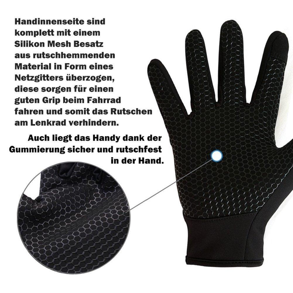 A.O.R Guantes de Pantalla T/áctil Guantes Impermeable Invierno Caliente Guantes T/érmicos para Ciclismo Moto para Mujer y Hombre