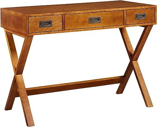 Versanora Bedford 3 Drawers Home Office Desk, 40 x 19 x 30 , Walnut