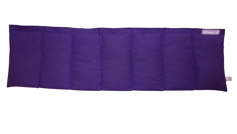 W/ärmekissen K/örnerkissen Dinkelkissen Lila Violett ca 70x20cm