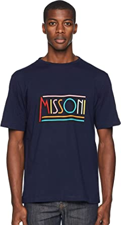 66900c55b38 Amazon.com  Missoni Mens Retro Logo T-Shirt  Clothing