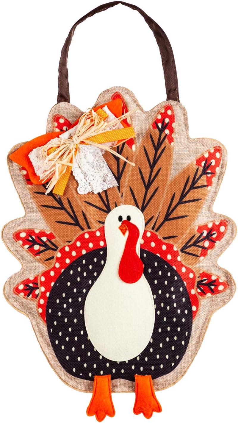 Evergreen Thanksgiving Holiday Door Décor (Turkey Door Décor)