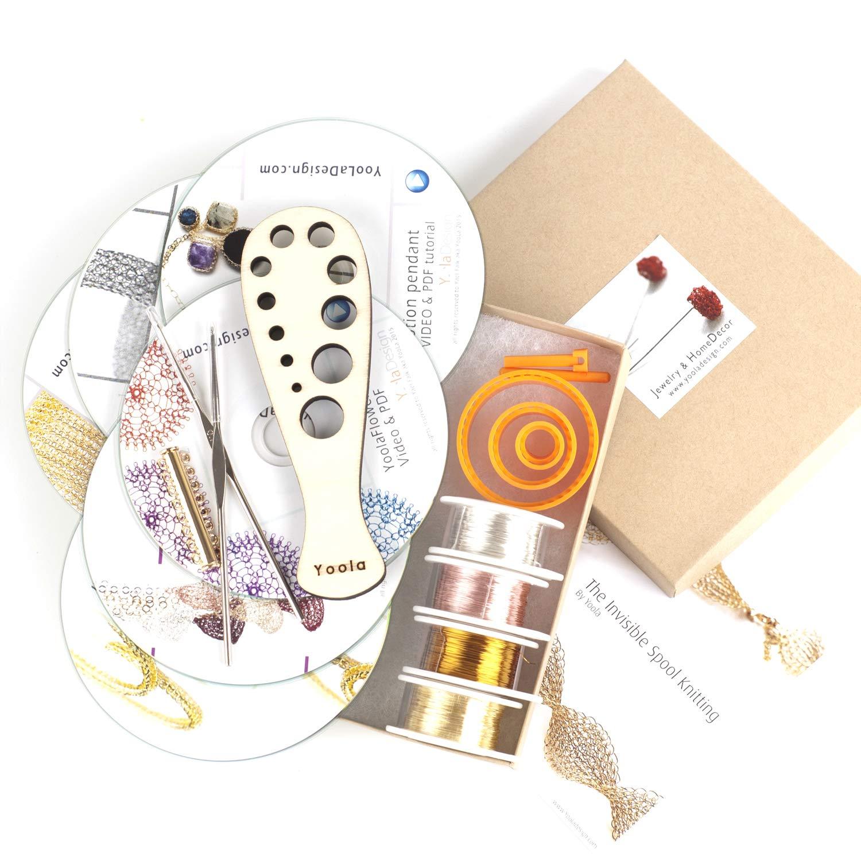 Amazon.com: YoolaDesign Extended Beginners Crochet Kit - 6 Cd\'s ...