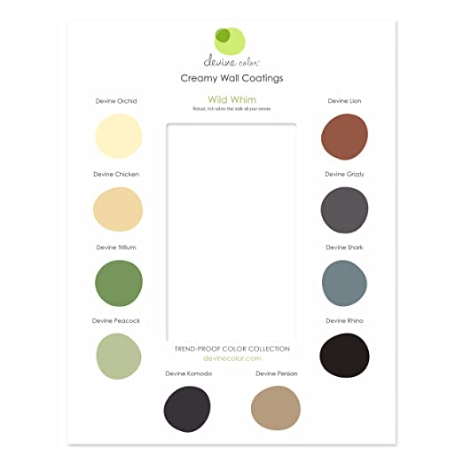 Devine Color Interior Paint Discovery Card, Wild Whim - House Paint - Amazon.com