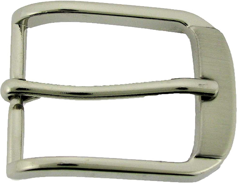 Belts Straps Silver Unisex Single Prong Pin Belt Buckle 1 1//4 33 mm