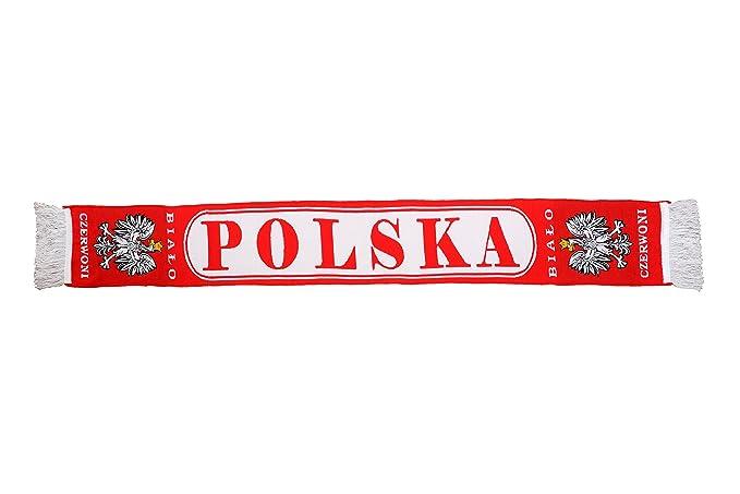 Auténtico Polonia Polska ovalado de fútbol bufanda plxr7Dv
