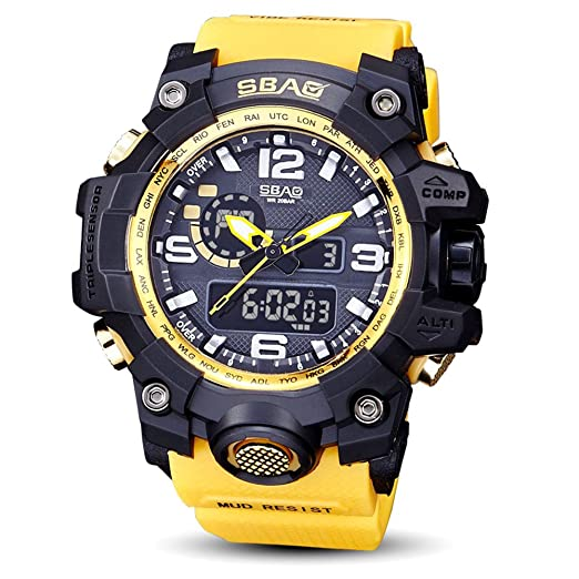 Amazon.com: AGUIguo SBAO Watch LED Men Waterproof Sports Watches Shock Digital Electronic (Red): Cell Phones & Accessories