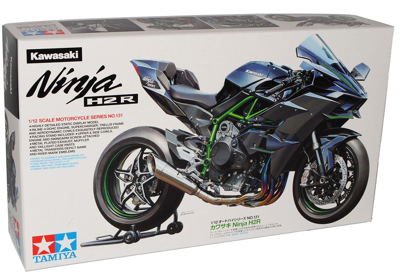 TAMIYA Kawasaki Ninja H2R Schwarz Ab 2014 14131 Kit Bausatz 1/12 Modell Motorrad Modell Auto