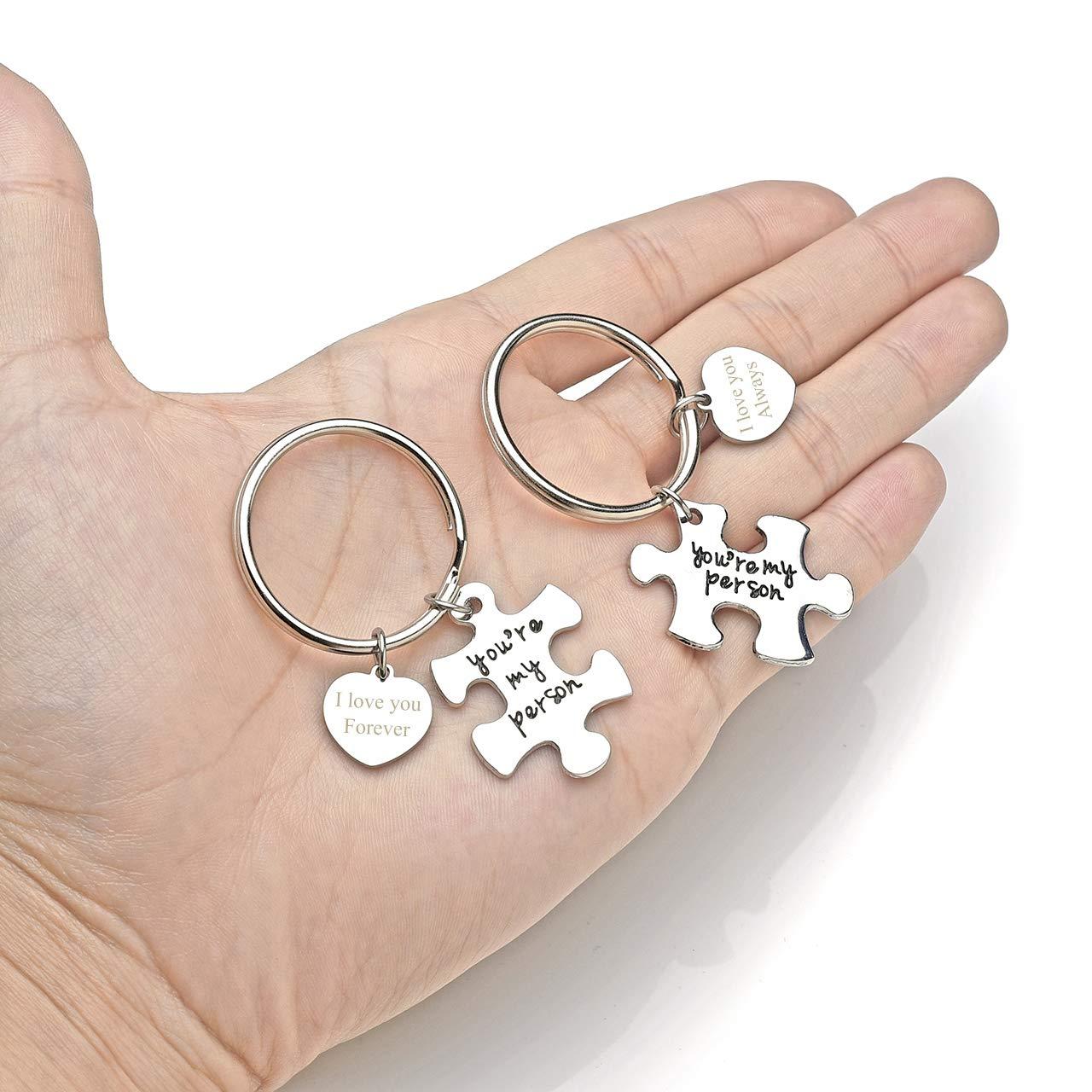 Amazon.com: Jovivi - Llavero con diseño de puzle para ...