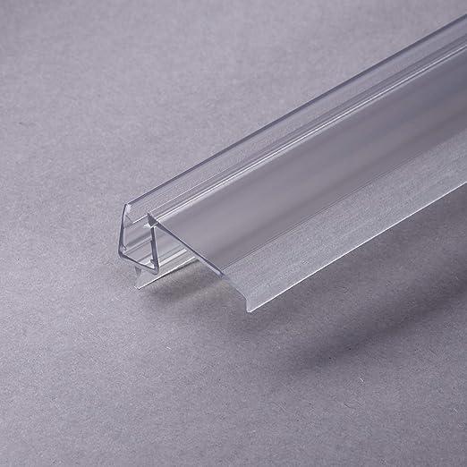 Sealis - Junta para cabina de ducha (100 cm, perfil de goteo, para puerta de ducha, transparente, junta de repuesto, para mamparas de ducha, 6 mm, 7 mm, 8 mm, cristal de