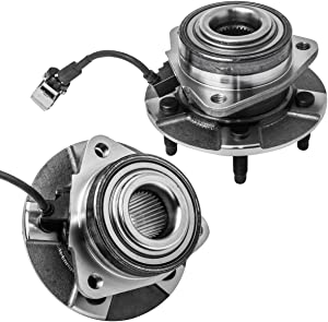 Front Wheel Hub and Bearing Assembly Left or Right Compatible Chevrolet Equinox Pontiac Torrent Saturn Vue (4-WHEEL ABS Models) AUQDD 513189 x2 (Pair) [ 5 Lug W/ABS ]
