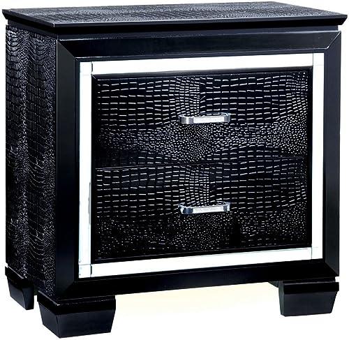 William's Home Furnishing Bellanova Nightstands 29.5″H Black