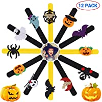 Vansoon 12 Piezas Pulseras Bofetada De Halloween, Spider