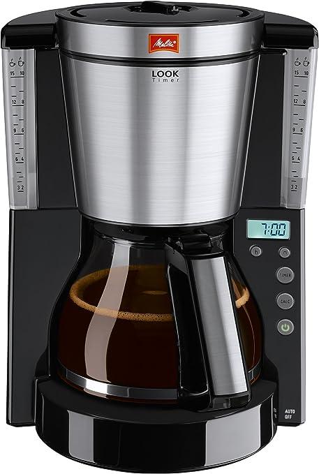 Melitta Look Timer Cafetera de Filtro, 1000 W, 1.25 litros, Vidrio, Negro: Amazon.es: Hogar