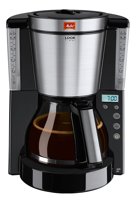 Melitta LOOK Timer 1011-08 Macchina da caffè con filtro 15tazze Nero, Trasparente 6708047