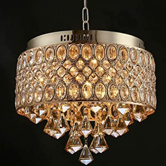 Kronleuchter Gold Kristall Hängelampe Lampenschirm Kronleuchter ...