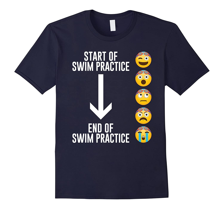 Emoji Swim Practice Fun Swimming T-Shirt-T-Shirt