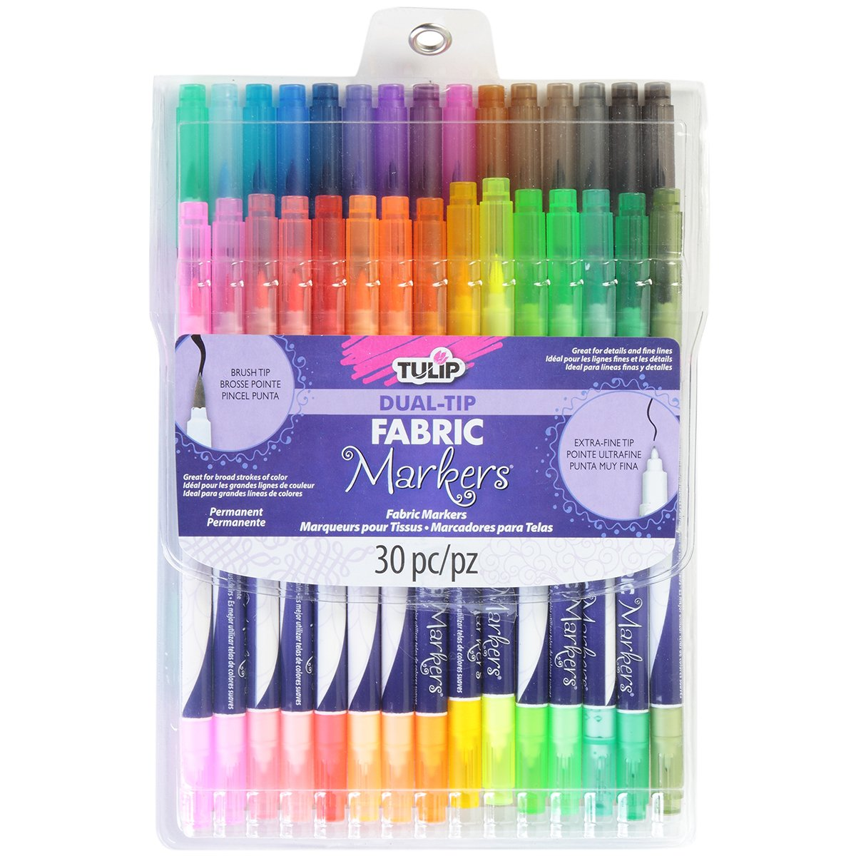 Brand New Tulip Dual Tip Fabric Markers 30/Pkg-Assorted Brand New by M1N4C6