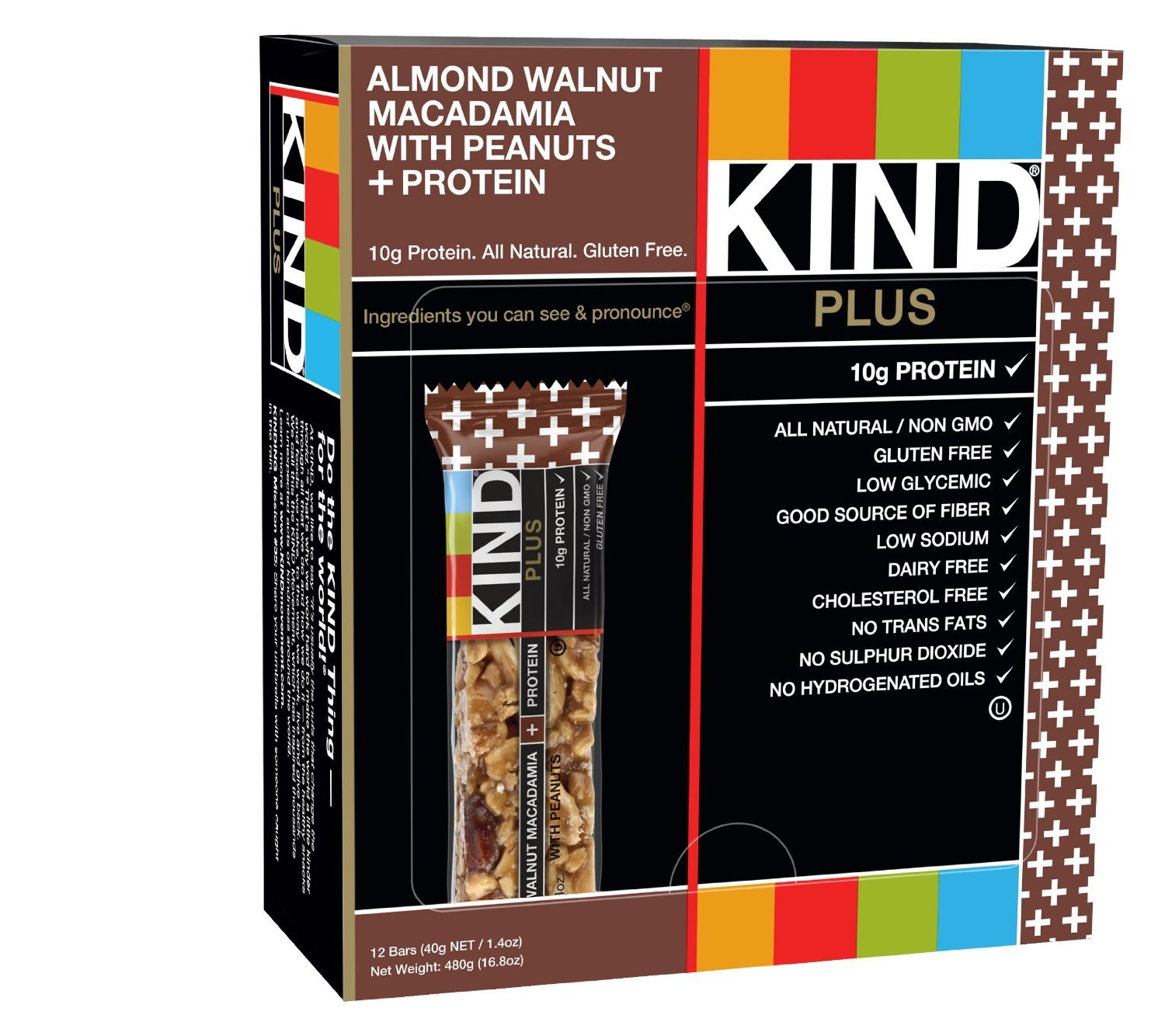 Kind Fruit & Nut Bars Bar Almnd Wlnt & Macadmia 1.4 Oz by KIND (Image #1)