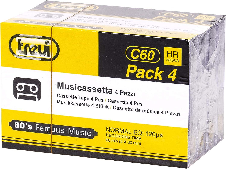 Trevi C60 HR Pack 4 Audio Cassette 60 min 4 Pieza(s): Amazon.es ...