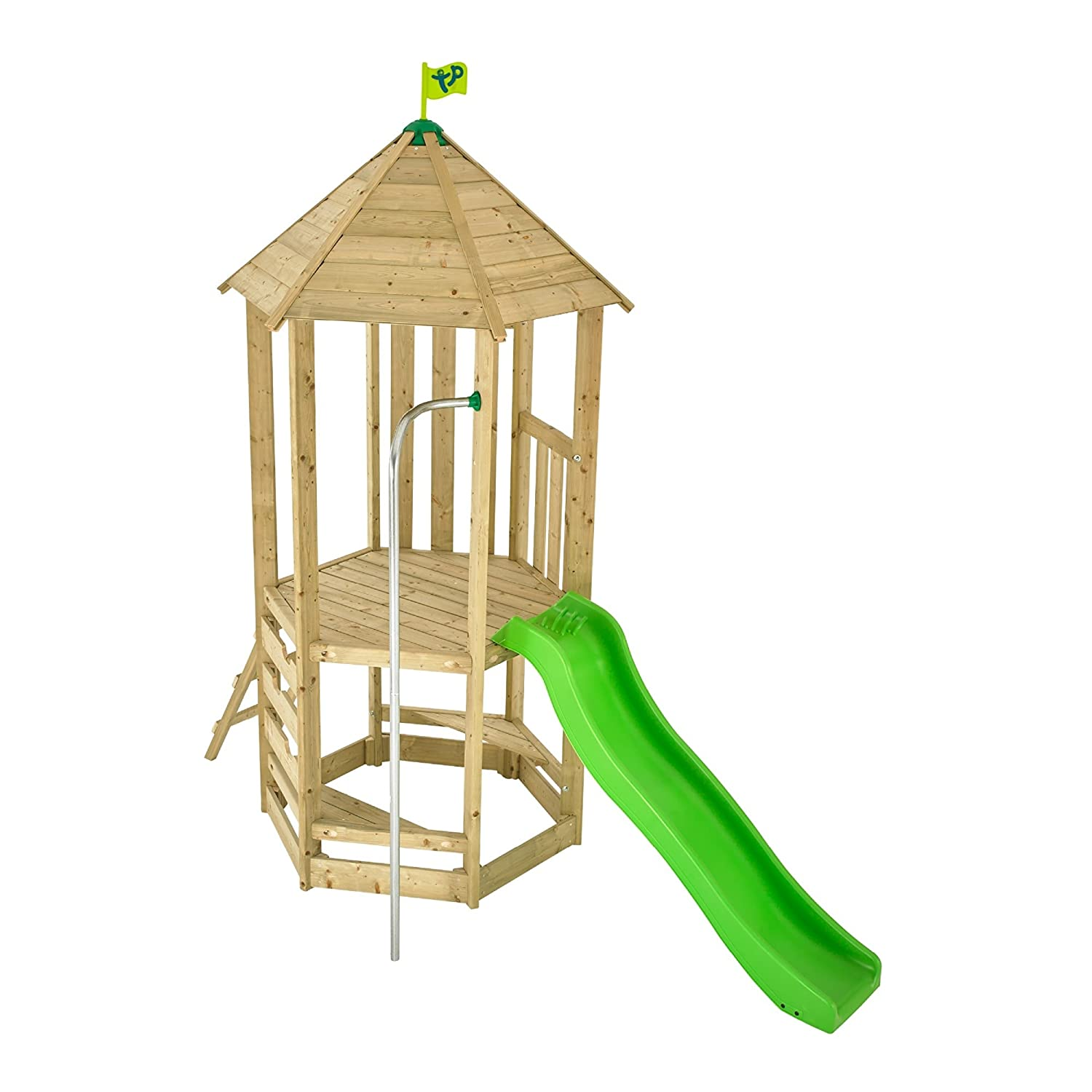 TP Castlewood Dover Wooden Climbing Frame and Wavy Slide TP Toys