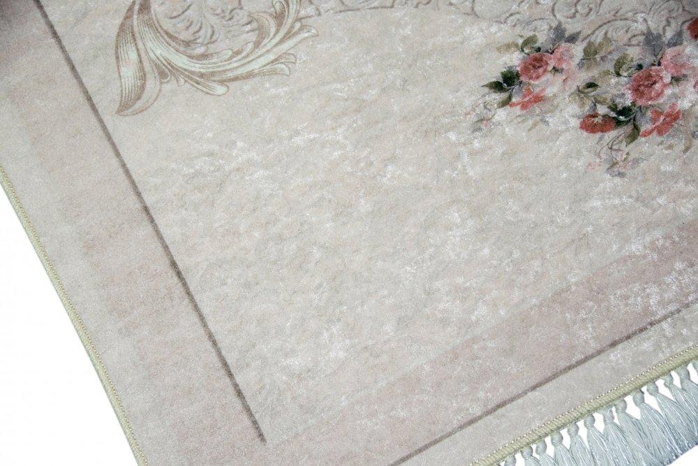 Tappeto Da Salotto Rosa : Merinos tappeto fiori tappeto da salotto lavabile in beige rosa