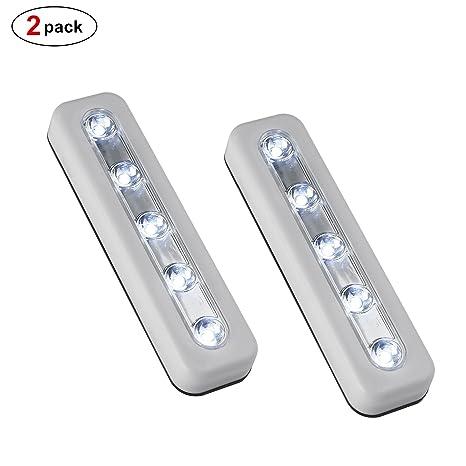 5 LED Wireless Mini Stick On Touch Light - Battery Powered Wireless ...
