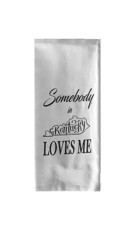 Somebody in Kentucky Loves Me Tea Towel