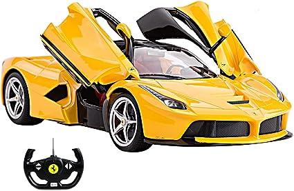 Amazon Com 1 14 Scale Ferrari La Ferrari Laferrari Radio Remote Control Model Car R C Rtr Open Doors Yellow By Fmtstore Toys Games