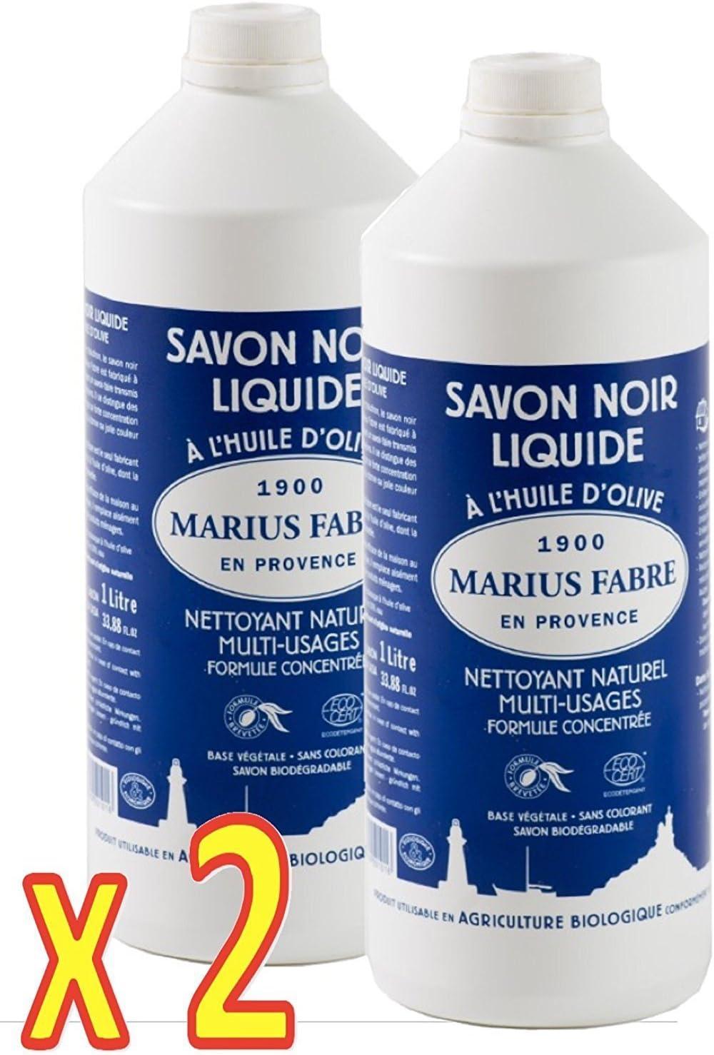 Marius Fabre - NEGRO JABON DE MARSELLA líquido al aceite de oliva ...