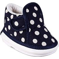 CHIU Chu-Chu Sound Polka Dot Pattern Navy Blue Shoes for Baby Boy & Baby Girl