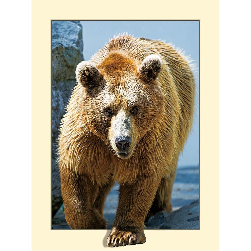 Diamond Painting, orso Nelnissa 5D DIY Diamond Painting Animal punto croce ricamo Home Decor regalo