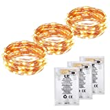 Amazon Price History for:LE 3 Pack 60 LEDs Copper Wire String Lights Warm White Waterproof Battery Powered Fairy Starry Lights for Garden Patio Party Valentine's Day Wedding Christmas Tree (19.68FT)