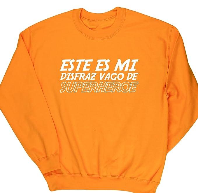 HippoWarehouse Este es mi disfraz Vago de Superhéroe jersey sudadera suéter derportiva unisex