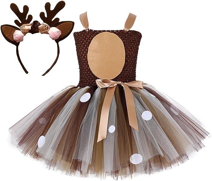 Amazon.com: Tutu Dreams - Disfraz de ciervo para niñas de 1 ...