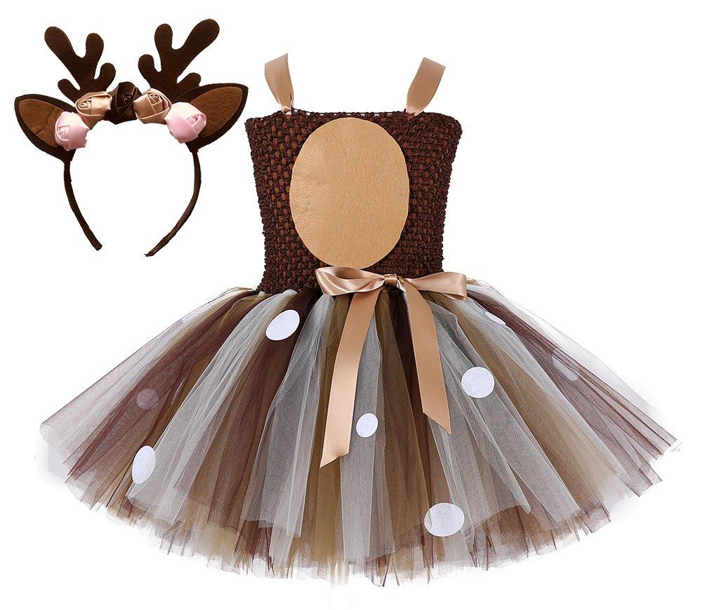 Tutu Dreams Baby Girls Deer Costume (Deer, S)