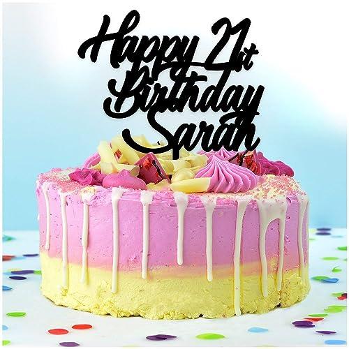 Brilliant Personalised Happy Birthday Cake Topper Personalise With Any Funny Birthday Cards Online Inifodamsfinfo