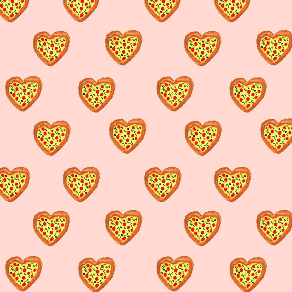 GRAPHICS & MORE Pizza My Heart Love Pattern Premium Roll Gift Wrap Wrapping Paper