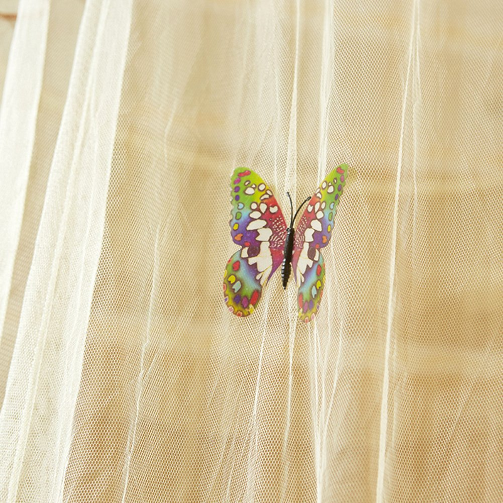 ZANZARIERA /o letto matrimoniale Indoor or Outdoor Travel Zanzariera Antizanzare Insetto rete punta rotonda letto a baldacchino zanzariera zanzariera per singolo/