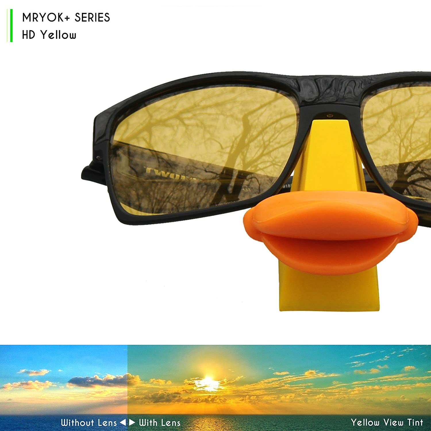 332c330f7d Mryok+ Polarized Replacement Lenses for Oakley Twitch - HD Yellow   Amazon.ca  Clothing   Accessories