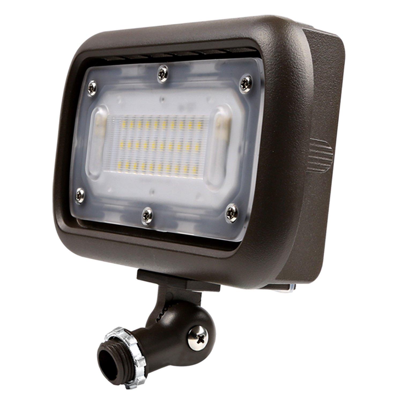 Hykolity 30W Mini LED Flood Light, 3000lm 5000K Outdoor Decoration wall Grazing Light, Wall Washing Signage Light [250W Halogen Equivalent] 1/2 Inch Adjustable Knuckle Mount DLC Qualified