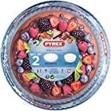 Pyrex Essentials Bakeware Dishes Set, 2pc Set - 1x 2.4L and 1x 2.7L, 1138908, Clear