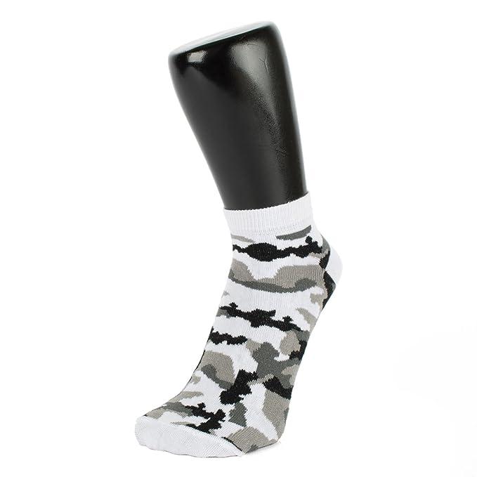 0bef934574 Weiß und Grau Camouflage Trainer Socken (3 PACK) (Größe: 4-7 ...