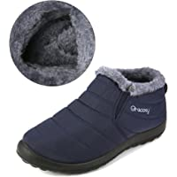 gracosy Warm Snow Boots, Winter Warm Ankle Boots, Fur Lining Boots,Waterproof Thickening
