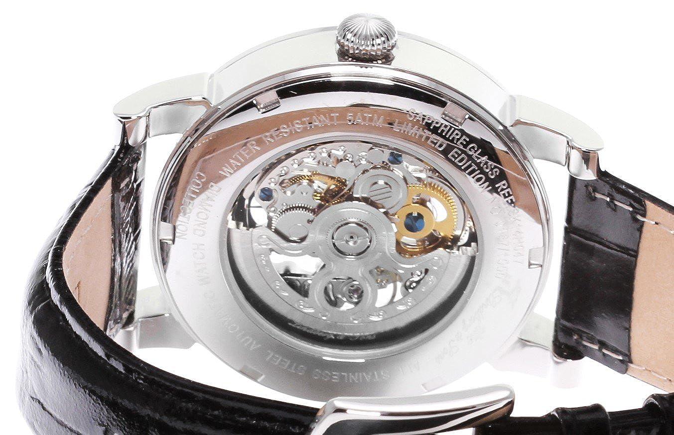 4b1921830c Lindberg & Sons Homme Analogique Automatique Montre avec Bracelet en Cuir  SK14H047
