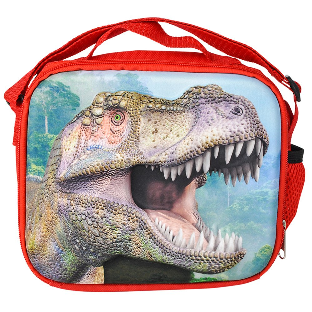 3D Jurassic Dinosaur T-Rex Backpack, Lunchbox, and Water Bottle Back to School by RIN (Image #7)