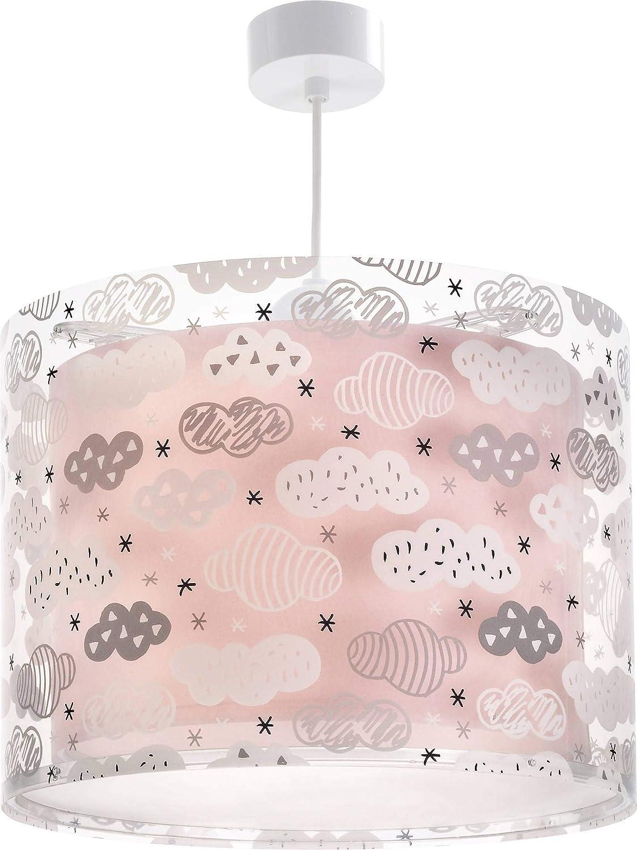 Dalber - Lámpara colgante techo Clouds Rosa, led, plástico