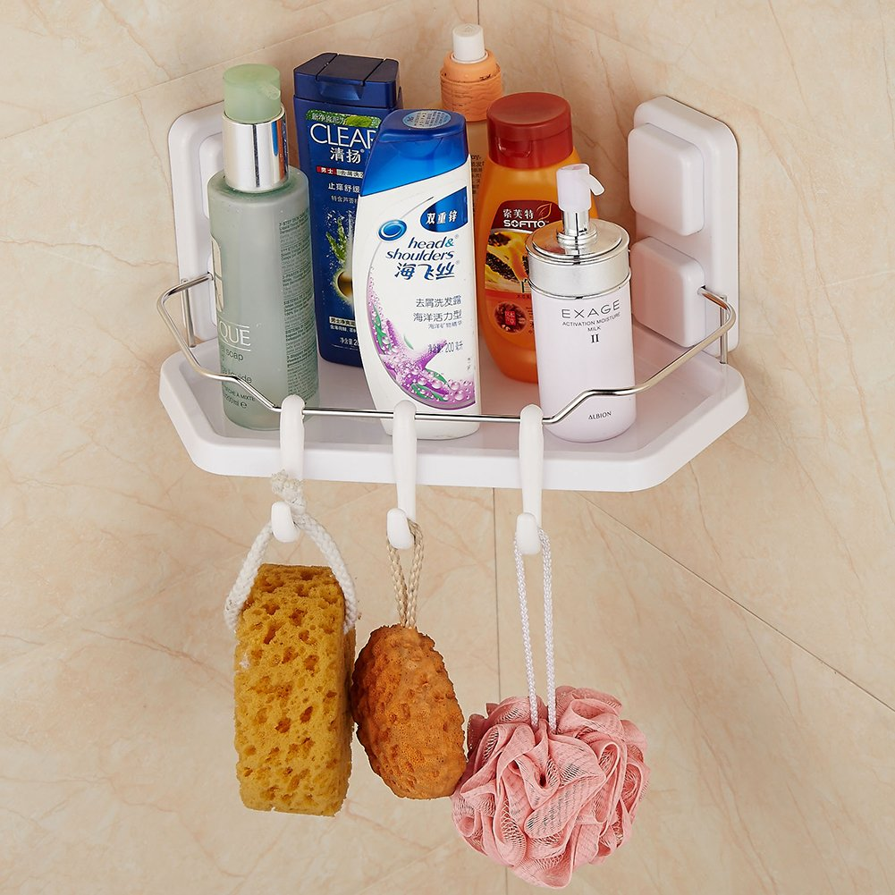 KWELS Super Powerful Vacuum Suction Cup Bathroom/Kitchen Space Saver Heavy Duty Shelf